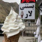 بستنی لار در جاده هراز